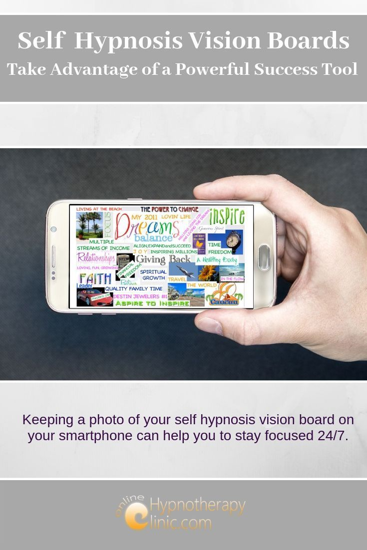self hypnosis vision board