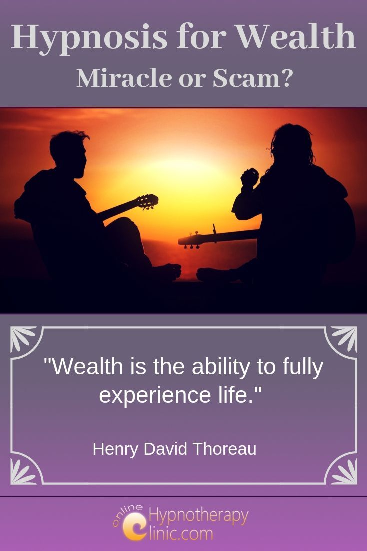 hypnosis for wealth